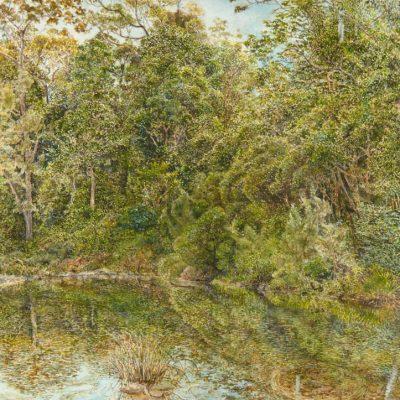 John Murray     Bellinger River, Thora     watercolour on paper     21 x 11 cm     © the artist